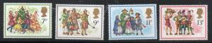 Great Britain Sc 847-50 1978 Christmas stamp set mint NH