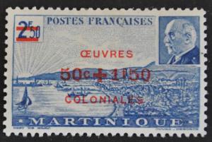 DYNAMITE Stamps: Martinique Scott #B10A – MINT hr