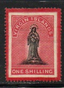 Virgin Islands Sc 8 1867 1/ rose & black St Ursula stamp mint
