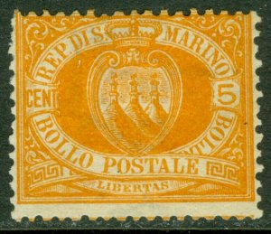 EDW1949SELL : SAN MARINO 1890 Scott #4 Mint Original Gum Hinged. Catalog $190.00