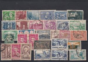 Interesting Mix of France Used Stamps Ref 31602