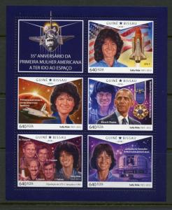 GUINEA-BISSAU  2018 35th ANN OF THE 1ST AMERICAN WOMAN IN SPACE SHEET MINT NH
