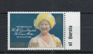 PN150) Pitcairn Islands 1980 80th Birthday of Queen Mother MUH