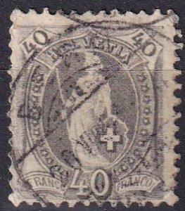 Switzerland #84b F-VF Used  CV $40.00   (Z1257)
