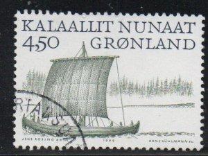 Greenland Sc 351 1999 4.5 kr Viking Ship stamp used