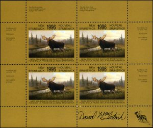 1996 New Brunswick Moose Wildlife by David MacIntosh