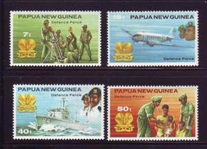 Papua New Guinea Sc536-9 Defence Forces stamps mint NH