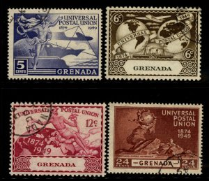 Grenada 1949 UPU Issue Scott 147-80 Stamp 4  Stamps Used F