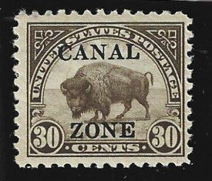 Canal Zone Scott #93 Mint NH 30c Sharpe Top A O/P 2019 CV $9.00