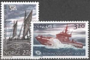 NORWAY 1991 Scott 993-94 cmplt mnh fvf set - scv $15.75 less 40%=$9.45 Buy it No