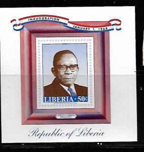 LIBERIA, 477, MNH, SS, PRESIDENT WILLIAM  TUBMAN
