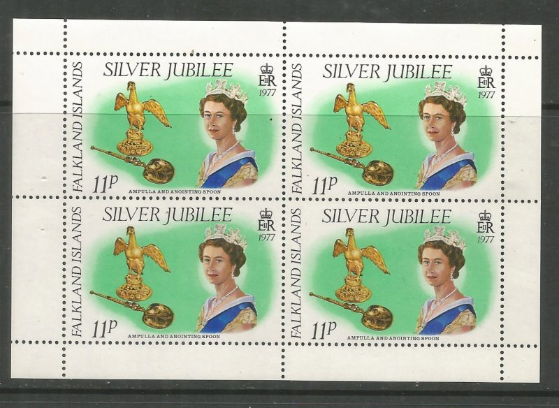 FALKLAND ISLANDS  255A MNH,  S.S. OF 4, SILVER JUBILEE 1977