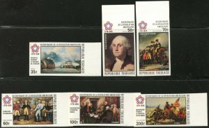 TOGO Sc#924-5, C270-3 1976 American Bicentennial Imperforate Complete Mint NH