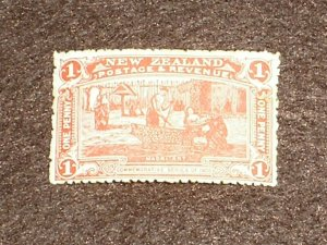 1906 NEW ZEALAND Stamps KEVII SG371 VERMILION 1d MINT HINGED MH CV £20