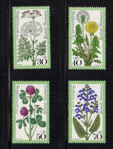 Germany Sc B542-5 1977 Flowers charity stamp set mint NH