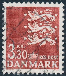 Denmark Scott 644 (AFA 722), 3.30Kr red-brown Small Arms type, F-VF Used