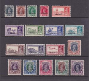 India Jind 1937 Sc 133-150 Or SG 109-126 KGVI set MH