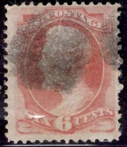US Stamp #159 6c Dull Pink Lincoln USED SCV $18