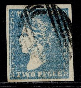 MAURITIUS QV SG43, 2d slate-blue, FINE USED. Cat £850.