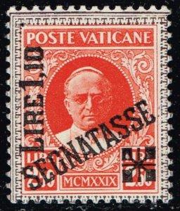 ITALY VATICAN CITY STAMP #J5 1931 Postage Stamps Overprinted SEGNATASSE MH/OG