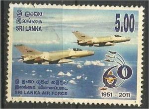 SRI LANKA, 2011, used 5r, Sri Lanka Air Force, Planes Scott