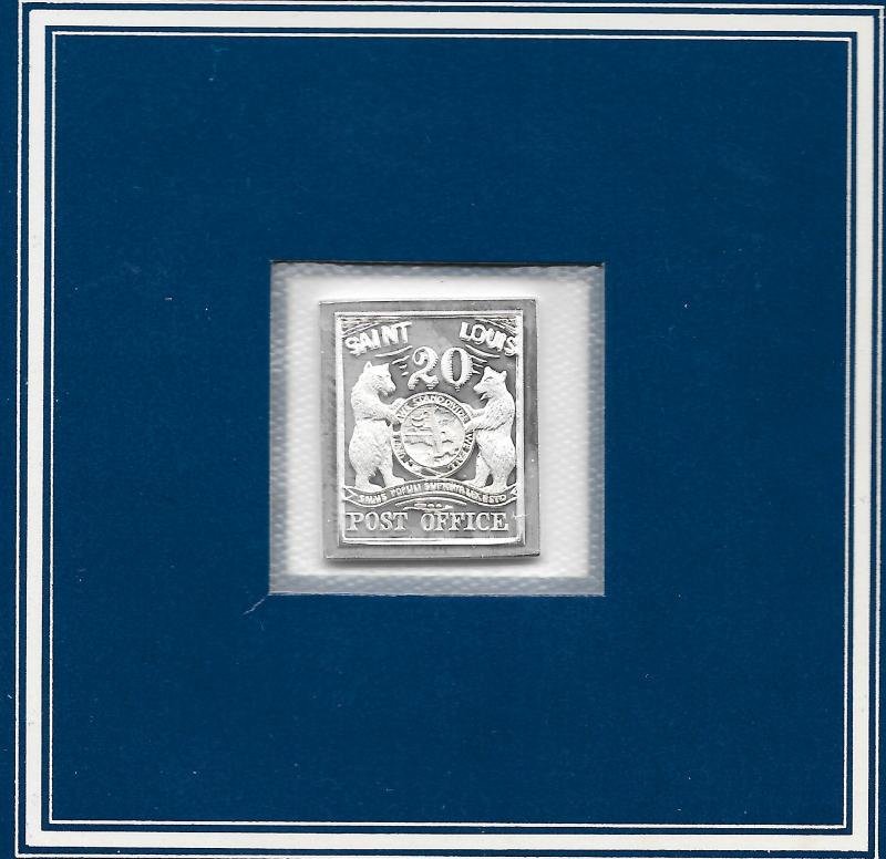 Worlds Greatest Stamps, Silver Ingots by The Franklin Mint