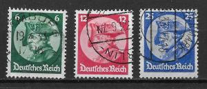 Germany 398-400 Frederick the Great set Used (z5)