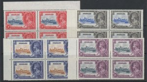 Swaziland, Scott 20-23 (SG 21-24), MNH blocks of four