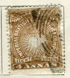 BRITISH KUT; ; 1890 East Africa Company fine used 4a. value