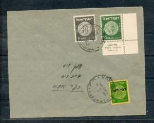Israel Scott #J2 Postage Due on Domestic Cover Underfranked with #19 Coins Tab!!