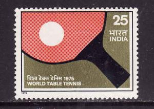 India-Sc#650-unused NH set-Sports-Table Tennis Championships-1975-