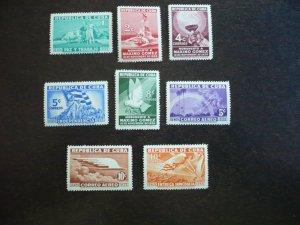 Stamps - Cuba - Scott# 332-336, C22-C23, E9 Mint Hinged Set of 8 Stamps