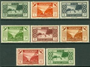 LEBANON : 1936. Scott #C49-56 Very Fine, Mint Original Gum Hinged. Catalog $185.