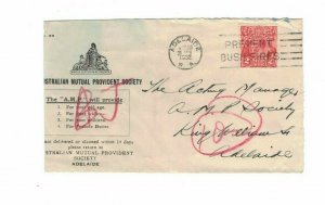 APH1493) Australia 1932 2d Red KGV Die III Small Cover