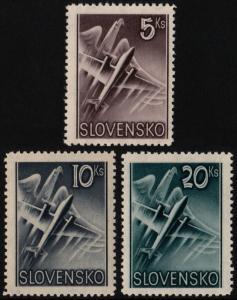✔️ SLOVAKIA 1940 - AIR MAIL - SC. C7/C9 MNH OG [SK076A]