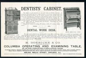 1893 Dentist illustrated Flyer & Envelope Chicago - Van Wert, Ohio