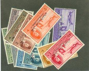 Egypt C53-64 mint, C58 thin CV $42.35