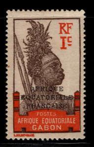 GABON Scott 85 MH* Warrior stamp