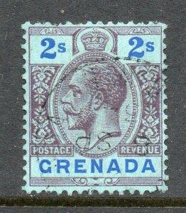 Grenada 1921 KGV 2/- wmk MSCA SG 130 used
