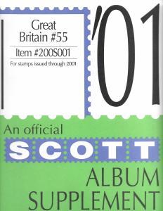 Scott Great Britain #55 Supplement 2001