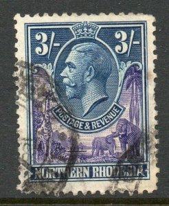 Northern Rhodesia 1925 KGV 3/- SG 13 used