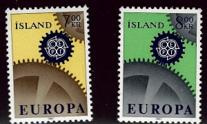 Iceland #389-390 MNH VF SC$3.00.....ICE your collection!