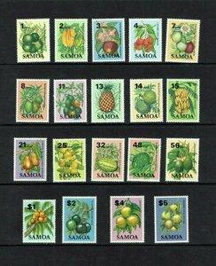 Samoa: 1983, Edible Fruit, definitive set, MNH
