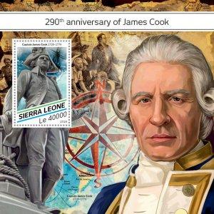Sierra Leone James Cook Stamps 2018 MNH Exploration Ships Famous People 1v S/S