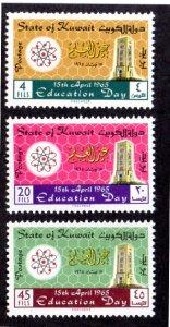 KUWAIT 283-285 MNH SCV $2.20 BIN $1.35 EDUCATION