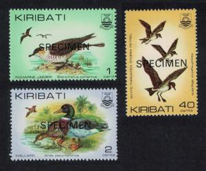 Kiribati Skua Jaeger Mallard Petrel Birds 3v 'SPECIMEN' SG#163=174