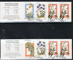 AUSTRALIA 1986 WILDFLOWERS $1 & 80c BOOKLETS