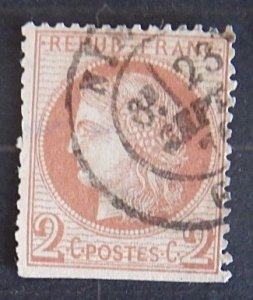France 1870-1871 Ceres Sc #39 (1944-Т)