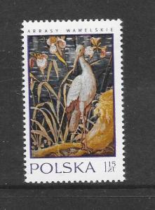 BIRDS - POLAND #1773-STORK  MNH