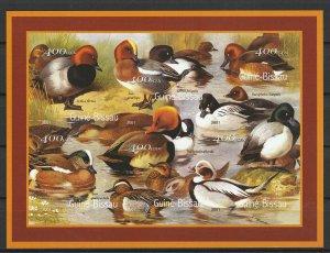 Guinea-Bissau MNH S/S Birds Ducks IMP. 2001 QUACK!!! QUACK!!!!